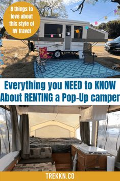 Pop-up Camper Rentals are the perfect way for you to experience outdoor adventure while staying comfortable and sleeping well. Check out these rentals. Pop Up Camper Rental, Travel Trailer Rental, Travel Trailer Living, Rv Rental, Popup Camper, Rv Travel, Hybrid Camper, Camping List, Family Camping