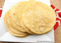 Homemade Corn Tortillas - Yummy Healthy Easy