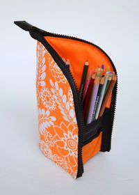 ikat bag: A Better Marker Pouch     Make for a travel valet tray?