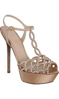 Gojee - Jeweled T-Strap Sandal by Sergio Rossi