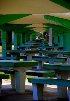 Carrabelle Beach, FL, picnic pavilion