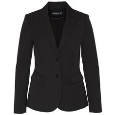 Hallhuber Business blazer with flap pockets (170 CAD) ❤ liked on Polyvore featuring outerwear, jackets, blazers, black, clearance, lapel jacket, workwear jacket, hallhuber and blazer jacket