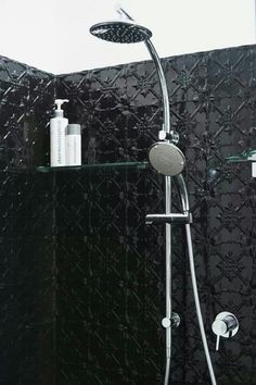 pressed tin black bathroom interior, just not black!