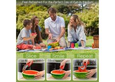 Watermelon Slicer & Tong by Sleeké - New Extended Silicone Cushioned Handle Made to Slice and Serve with Ease - Stainless Steel - No Mess, Less Stress Cool Kitchen Gadgets, Cool Kitchens, Delicious Sandwiches, Quick Snacks, Make It Yourself, Cool Stuff, Day, How To Make, Life