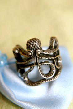 Lucky Brass Octopus