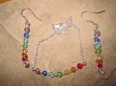 Sterling Silver Chakra Crystal Ear Rings or by KiCrystalCreations Chakra Crystals, Ear Rings, Chakras, Sterling Silver Jewelry, Bracelets, Earrings, Chakra, Bracelet, Bangles