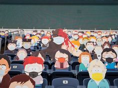 1,800 South Park Cut-Outs Spread Across Five Sections at Broncos Game During the COVID-19 Pandemic Denver Broncos Game, Go Broncos, South Park Characters, Comedy Central, Charity, Games, Cut Outs, Gaming, Plays