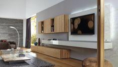 Contemporary TV wall unit / oak - NEO - hülsta - Videos