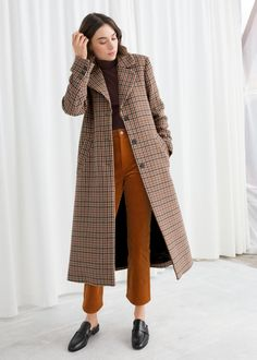 Move Over Parkas, We're Falling Hard For Plaid Coats This Winter+#refinery29