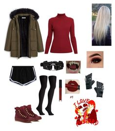 """underfell sans female outfit"" by ducklifejuan on Polyvore featuring Rumour London, MANGO, Falke, Converse, Fleet Ilya, KAOS and Funk Plus"