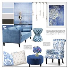 """Cornflower Blue"" by pat912 ❤ liked on Polyvore featuring interior, interiors, interior design, home, home decor, interior decorating, Baxton Studio, Evive Designs, Dot & Bo and Diane James"