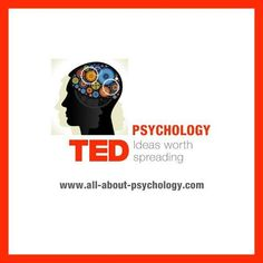 """The Psychology TED talks playlist """"consists of over 10 hours worth of brilliant psychology related videos."""" As of the end of 2013 there are 39 videos. Counseling Psychology, Psychology Quotes, School Psychology, School Counseling, Cognitive Psychology, Psychology Careers, Personality Psychology, Therapy Tools, Ted Talks"""