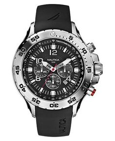 Nautica Watch, Men's Chronograph Resin Strap N14536G - All Watches - Jewelry & Watches - Macy's  $155