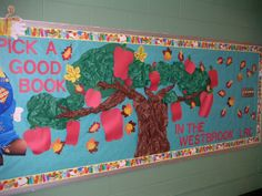 Pick A Good Book Library Bulletin Board