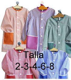 School Pinafore, Baby Sewing, Apron, Shirt Dress, Mens Tops, Shirts, Dresses, Fashion, Crochet Hand Purse
