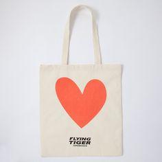 エコバッグ(ツインキャット) - フライングタイガーコペンハーゲン専門店 TIGER Shopping.com