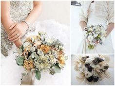 Fotos de ramos de novia de invierno de Martha Stewart Weddings