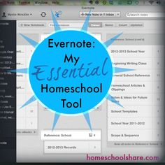 Evernote uses- I'm using my bullet journal and calendar, but trying to get everything to Evernote in the end. Want to have this stuff for when the other two start school.