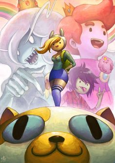 Adventure Time Fan-Art by Lord Ry (Ry-Spirit)! Featuring Finn & Jake, Princess Gumball & Marshall Lee, Fionna & Cake fan fiction