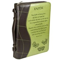 Faith in Green Hebrews 11 1 Bible Cover Size Medium for sale online Now Faith Is, Walk By Faith, Life Application Study Bible, Hebrews 11 1, Bible Bag, Christian Art Gifts, Great Is Your Faithfulness, Duo Tone
