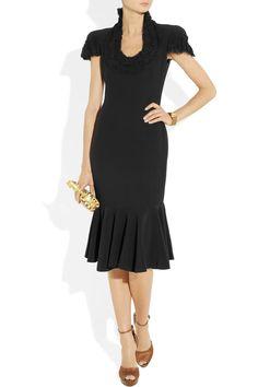 Alexander McQueen  Embellished crepe dress