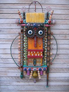 Home At Last Found Object Assemblage by Fig Jam by Fig Jam Studio