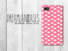 Pink Clouds Print Pattern iPhone Case iPhone 4s by DreamlandCases, $13.00