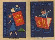 Vintage matchbox labels