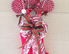Suspensión de puerta media de la Navidad - dulces