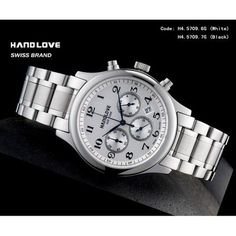 Handlove White Dial Classic Design Men's Swiss Watch (SZ06-H4-5709-6G-GANGDAI)