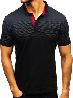 Buy New Men's Fashion Casual Short Sleeve Polo Shirt T-Shirt Summer Slim Fit Polo Shirt Tops at Wish - Shopping Made Fun Polo Shirt Brands, Slim Fit Polo Shirts, Polo T Shirts, Golf Shirts, Male T Shirt, Men Shirt, England Fashion, Contrast Collar, Types Of Sleeves