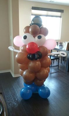 Mr. Potato Head Balloons. 1st birthday party ideas. Toy Story party.