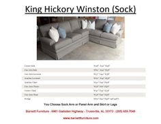 King Hickory Winston Sectional Sock Arm and  Skirt. You Choose from (3) Arms Styles and Skirt or Legs.  You Choose the pieces to fit your space.  You Choose the Fabric.