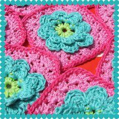 Alles over haken en andere kleurige creaties! All about crocheting and other co. Alles over haken en andere kleurige creaties! All about crocheting and other colorful creations! Crochet Afghans, Crochet Squares Afghan, Crochet Diy, Crochet Quilt, Crochet Blocks, Love Crochet, Crochet Granny, Beautiful Crochet, Crochet Crafts