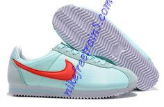 Nike Classic Cortez Nylon Light Blue Varsity Red 457226 303