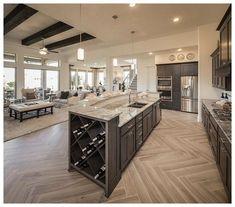 Luxury Kitchen Design In 2020 Ideas , Dream and Modern Kitchen) Home Decor Kitchen, Home Kitchens, Kitchen Ideas, Diy Kitchen, Kitchen Layout, Kitchen Designs, Rustic Kitchen, Open Concept Kitchen, Kitchen Hacks
