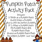 Pumpkin+Patch Activity+Pack