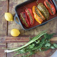 Dolmeh Felfel - Gefüllte Spitzpaprika nach persischer Art