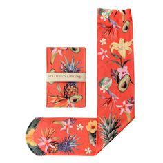 Rojo sangriento mano impreso calcetines de por StrathconaStockings