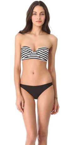 99c2512614 Bordeaux Structured / Mikoh Swimwear Bandeau Bikini, Bikini Swimwear, Bikini  Tops, Bandeau Tops