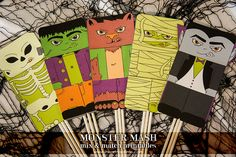 Monster Mash Mix and Match Printables!