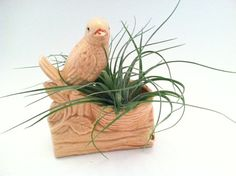 Beautiful Vintage Tan Bird Small Planter by SheWhoPlaysWithGlass