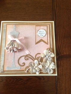7x7 card using Craftwork Cards Paper Couture collection