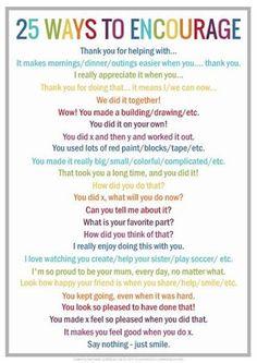 25 ways to encourage your child.