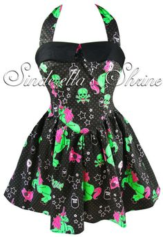 Hell Bunny Dress Black I Heart Zombie Halloween Unicorn Party Size 6 26 XS 4XL   eBay