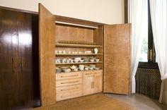 Forniture by Piero Portaluppi in the office room at Villa Necchi Campiglio