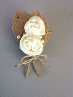 Handmade Rustic, Shabby Chic Boutonniere!.    $11. Ea.  Buy here    Perfect For:    Country Wedding. Barn Wedding. Outdoor Wedding. Fall   Wedding. Rustic Wedding. Shabby Chic   Wedding or any theme!    Each boutonniere will   vary slightly in size and shape.    This will make the perfect CORSAGE FOR MOTHERS OF THE BRIDE &. GROOM, ALSO FOR GRANDMOTHERS , ECT. ANYONE WHO IS SPECIAL  TO YOU...