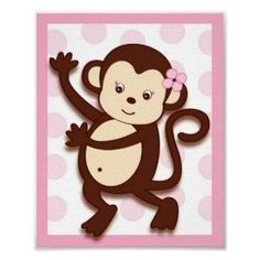 Girl nursery Clip Art | ... girls fabric baby girl monkey accessories girl monkey games girl