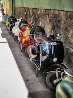 Vespa street in HCM, Vietnam http://www.shutterstock.com/?rid=1525961