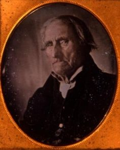 Conrad Heyer, this picture was taken circa 1852. He was approximately 103 when photographed, having been born in 1749. He was reportedly the first white child born in Waldoboro, Maine, then a German immigrant community. He served in the Continental Army under George Washington during the Revolutionary War, crossing the Delaware with him and fighting in other major battles.
